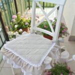 подушка для стула с рюшами