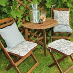 подушка для стула в саду