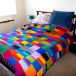 покрывало на диван разноцветное