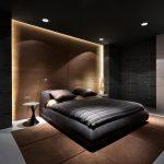 пример обстановки в темной спальне