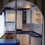 кухонный гарнитур синий