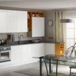 кухонный гарнитур белый с желтым