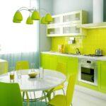кухонный гарнитур зеленый