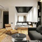 расстановка мебели в однокомнатной квартире фото интерьер
