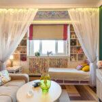 расстановка мебели в однокомнатной квартире дизайн идеи