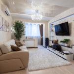 расстановка мебели в однокомнатной квартире идеи декора