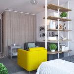 расстановка мебели в однокомнатной квартире оформление