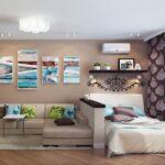 расстановка мебели в однокомнатной квартире фото оформление