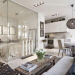 расстановка мебели в однокомнатной квартире идеи