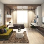 расстановка мебели в однокомнатной квартире оформление идеи