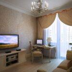 расстановка мебели в однокомнатной квартире варианты