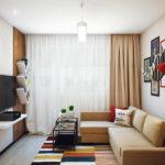 расстановка мебели в однокомнатной квартире варианты идеи
