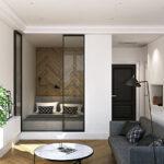 расстановка мебели в однокомнатной квартире идеи варианты