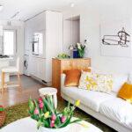 расстановка мебели в однокомнатной квартире идеи фото