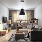 расстановка мебели в однокомнатной квартире фото дизайн