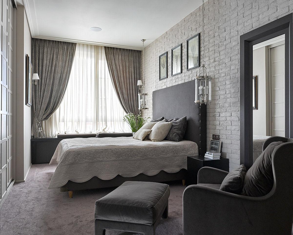 расстановка мебели в спальне фото