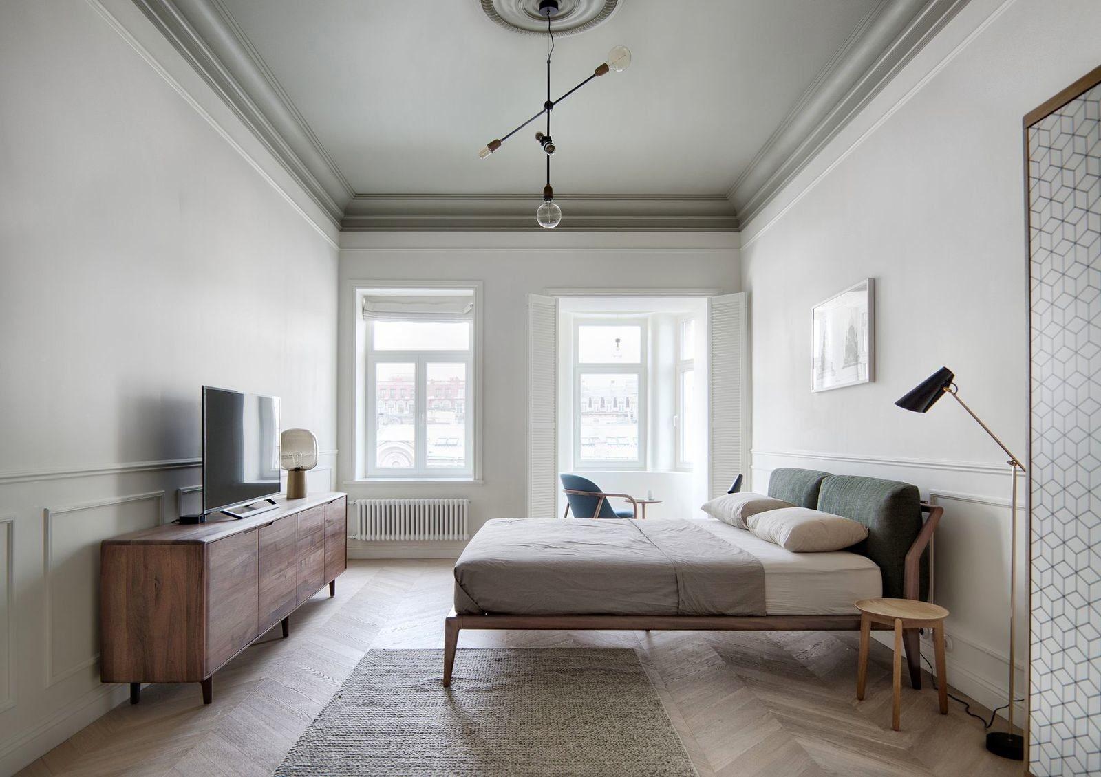 расстановка мебели в спальне фото дизайна
