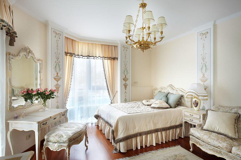 красивая расстановка мебели в спальне