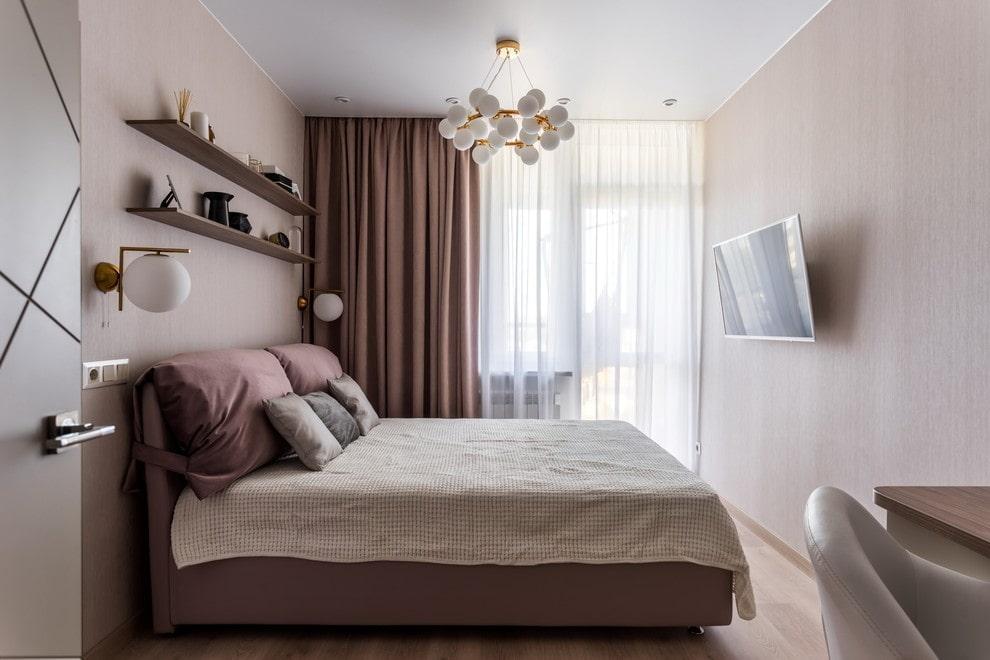 расстановка мебели в спальне идеи фото