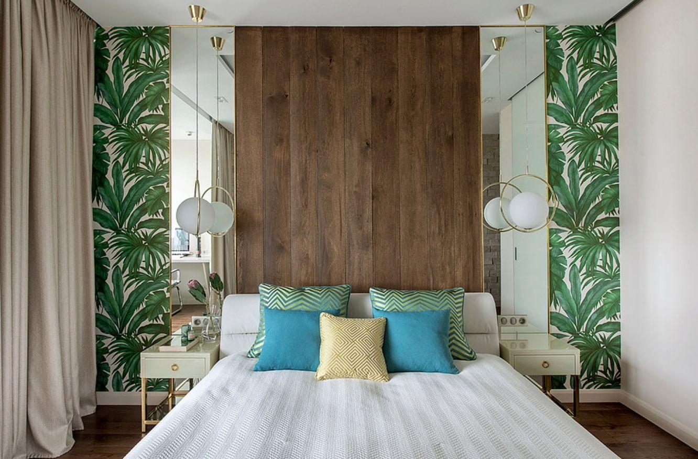 симметричная расстановка мебели в спальне