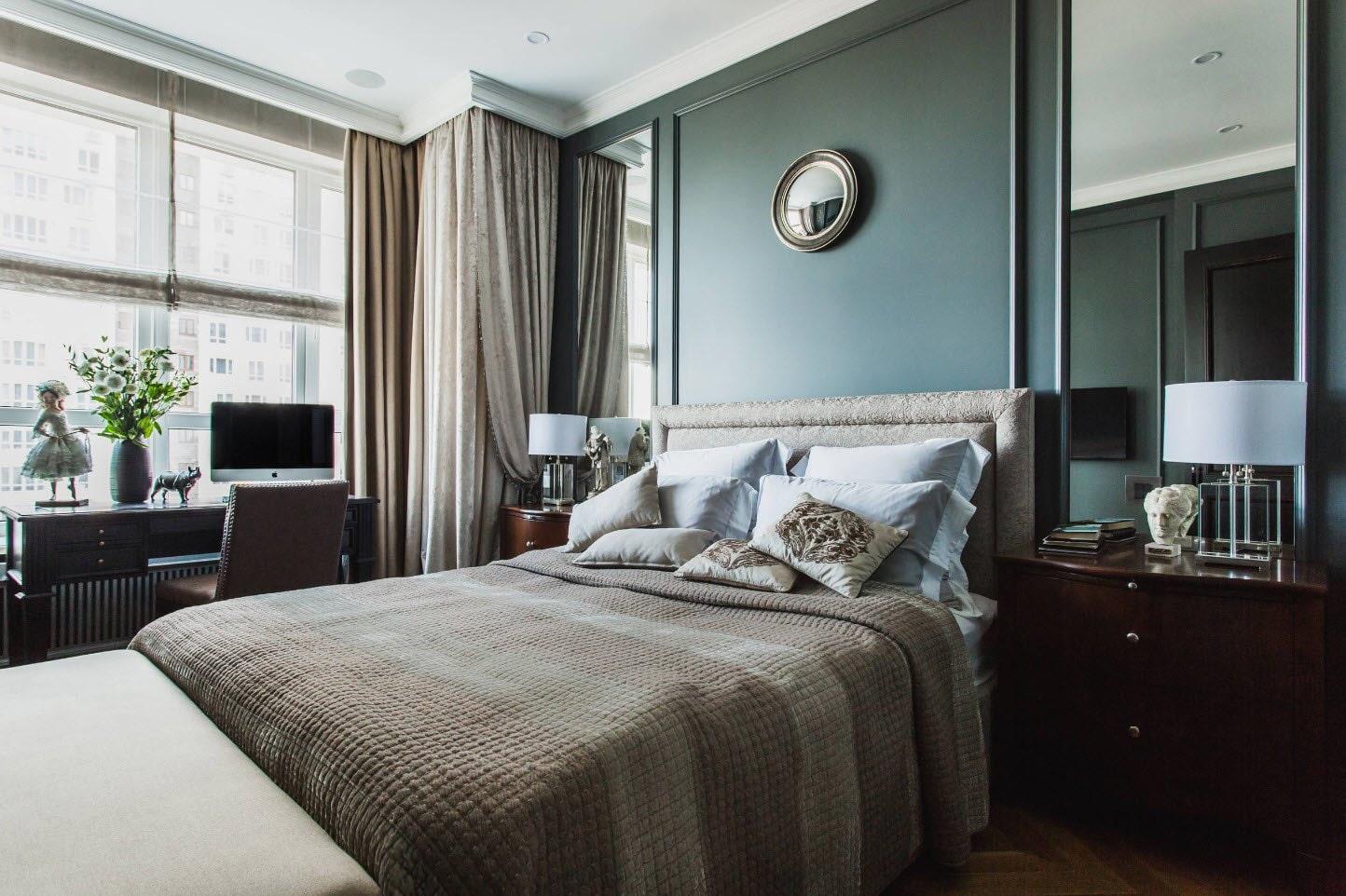 расстановка мебели в спальне фото дизайн