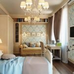 расстановка мебели в спальной комнате фото декор