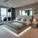 расстановка мебели в спальной комнате фото декора