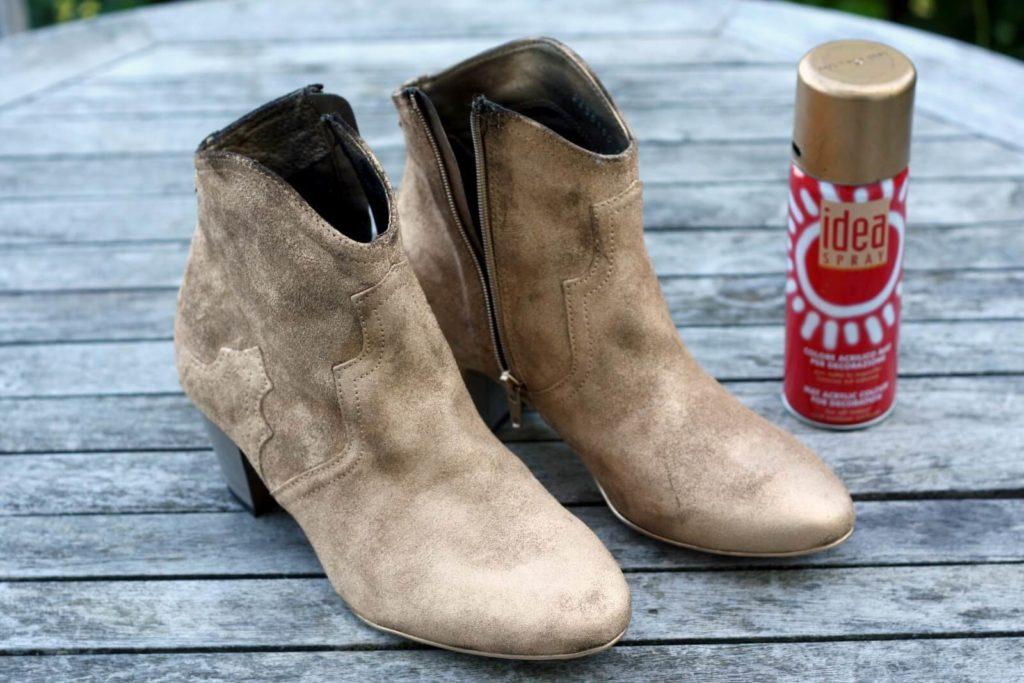 самостоятельная покраска замшевой обуви