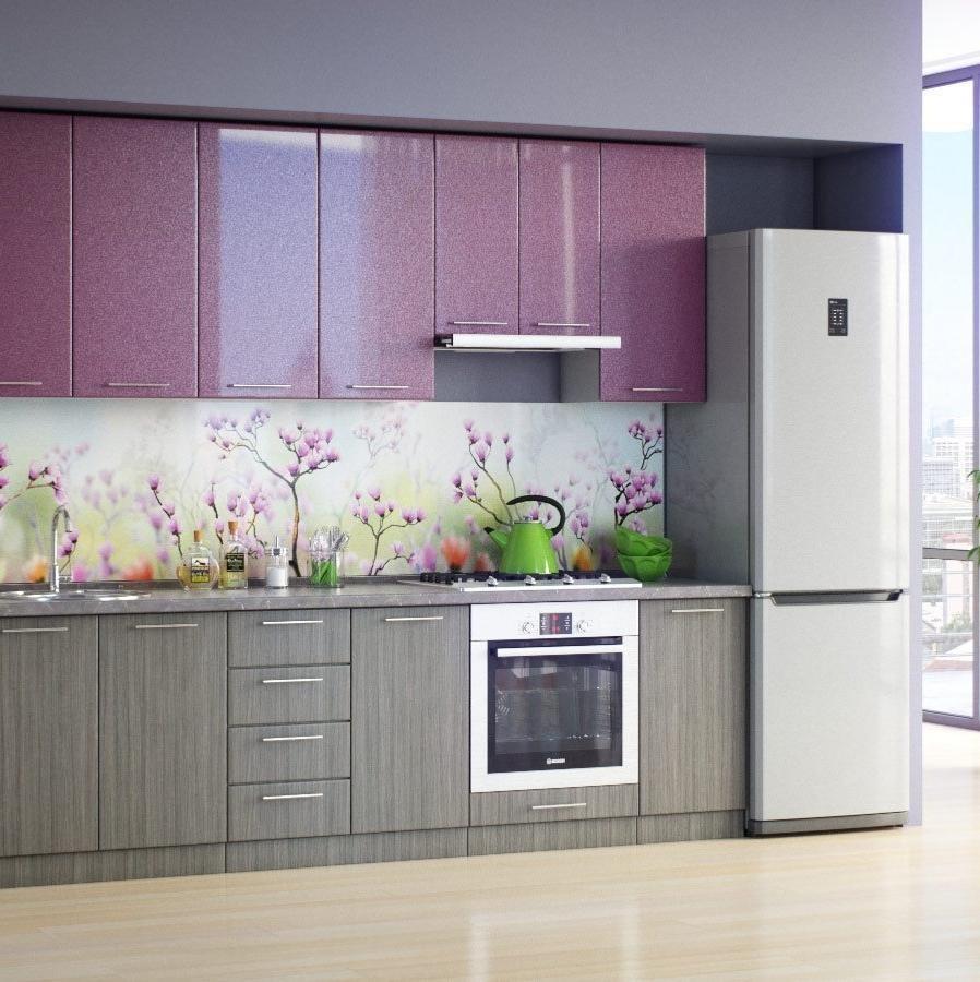 использование цветов в серой кухне