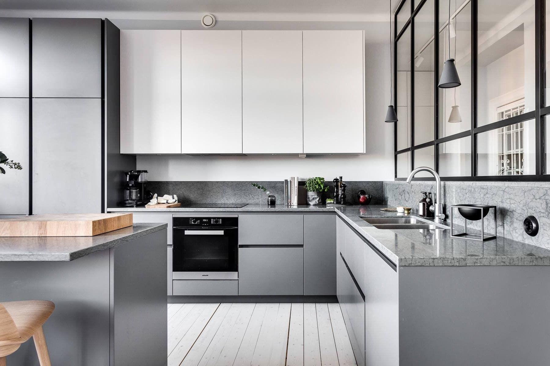 кухня в сером цвете дизайн фото нас осталось