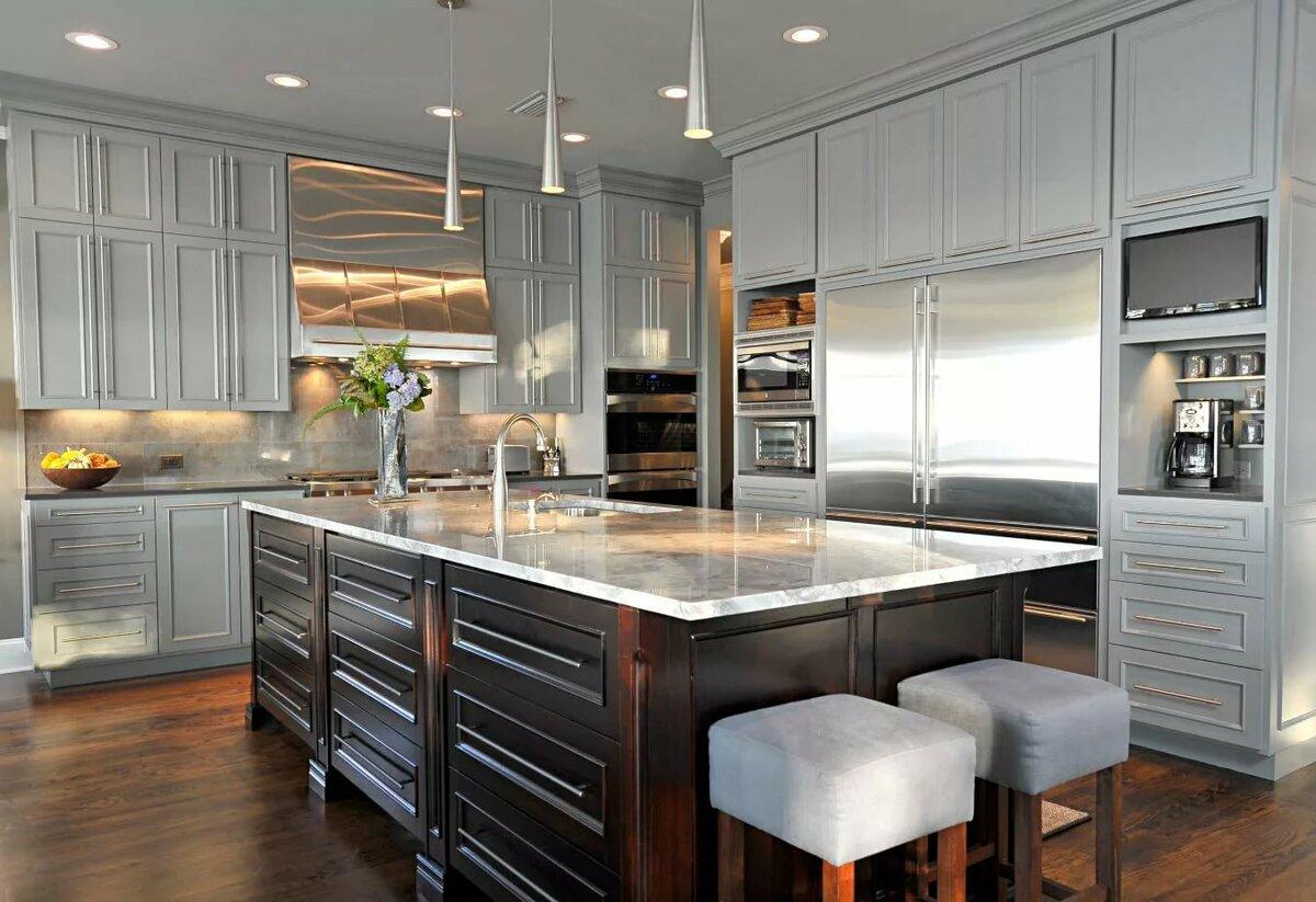 кухня в сером цвете дизайн фото трактовка этого оберега
