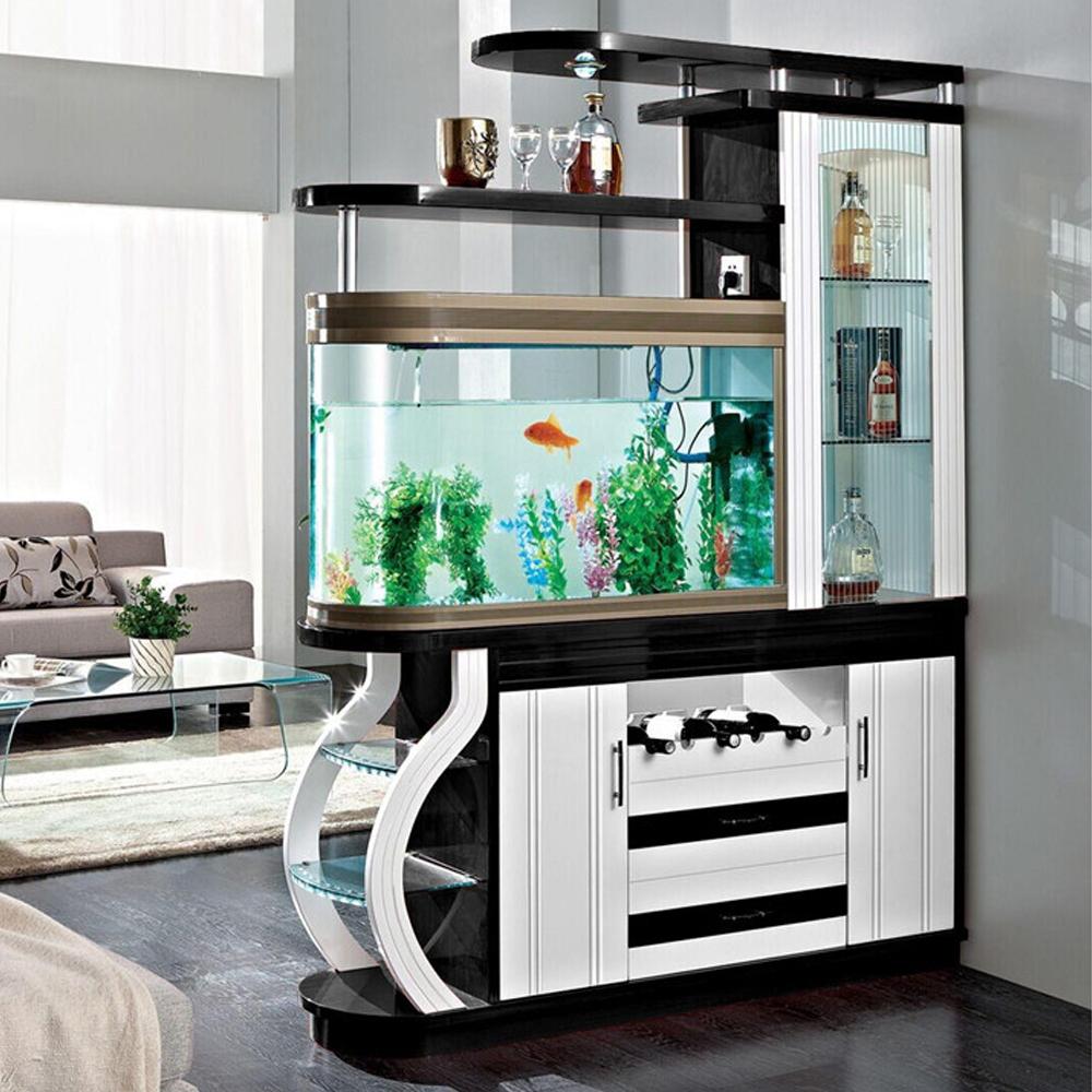 шкаф перегородка с аквариумом