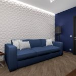 синий диван темный