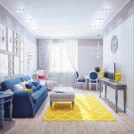 синий диван светлый