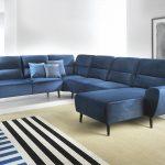 синий диван угловой