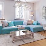 синий диван бирюзовый