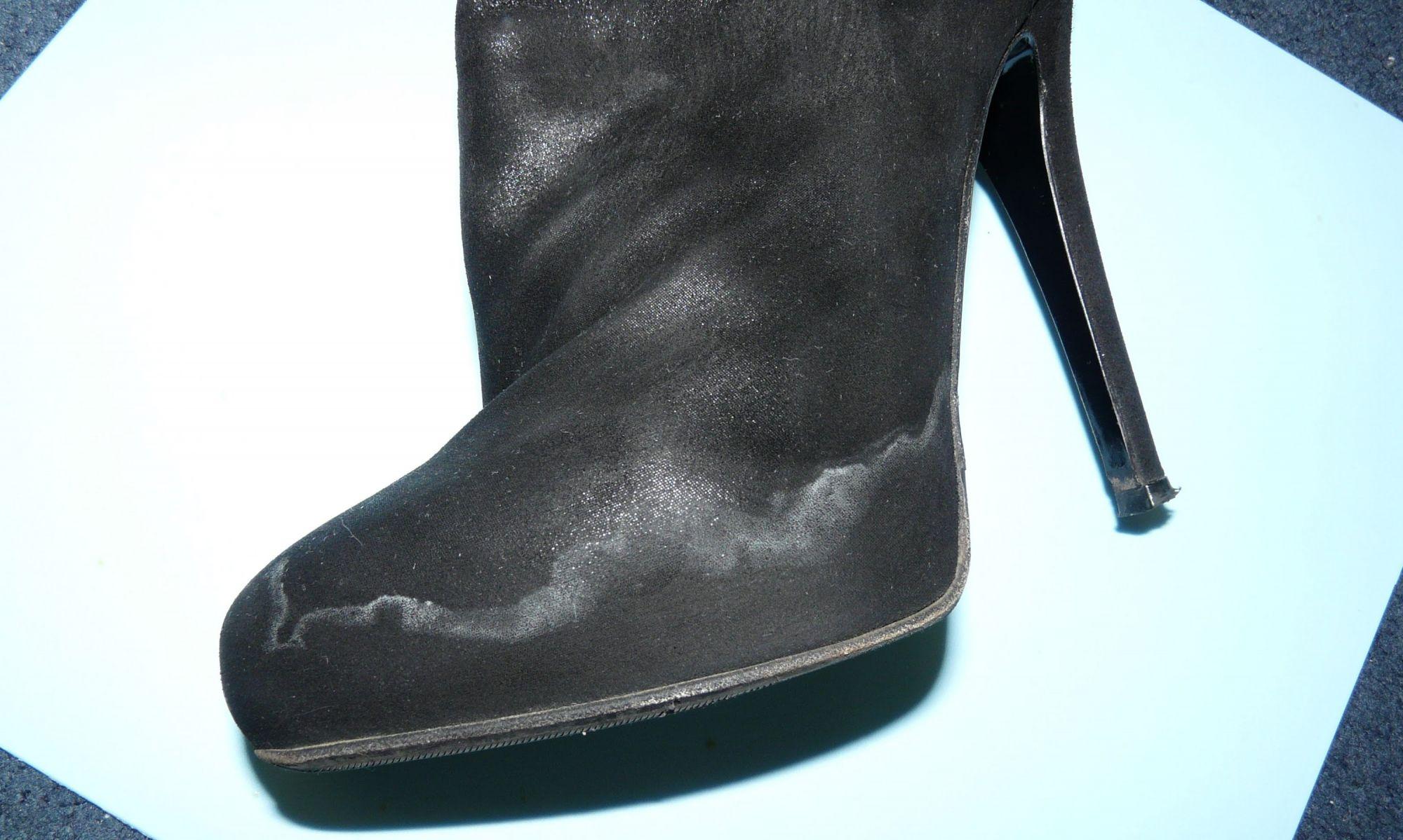 следы от соли на замшевой обуви