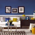 цвета в интерьере синий
