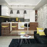 цвета в интерьере кухня белая с коричневым