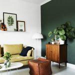 цвета в интерьере зеленая стена