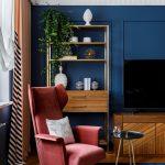 цвета в интерьере синие стены