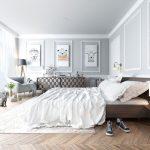 цвета в интерьере серая спальня