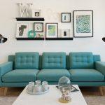 цвета в интерьере бирюзовый диван