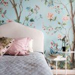 цвета в интерьере спальня в цветочек