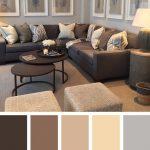цвета в интерьере коричневый диван