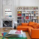 советская мебель оранжевый диван