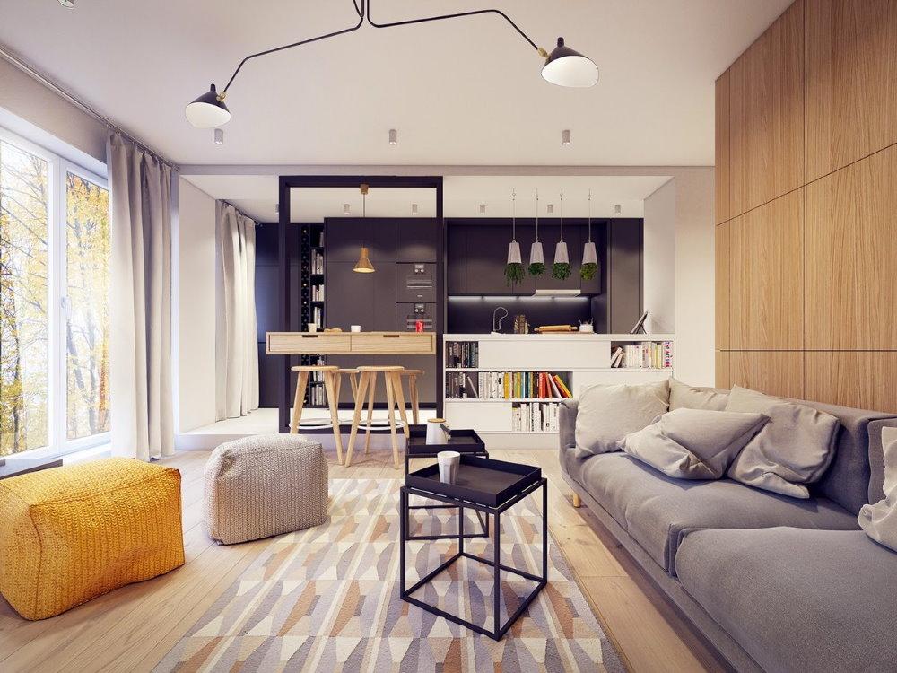 планировка современной однокомнатной квартиры