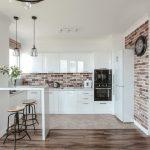современный кухонный гарнитур оформление фото