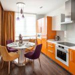 современный кухонный гарнитур фото оформление