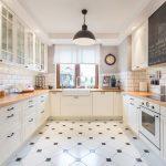 современный кухонный гарнитур оформление идеи